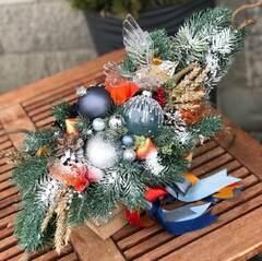 Новогодняя композиция с птичкой/ Winter Bird