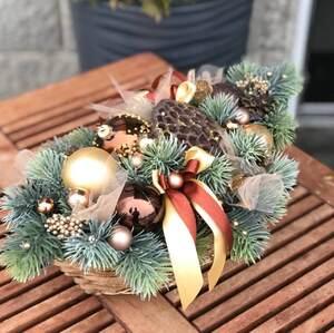Новогодняя композиция в медовых тонах/ Holiday