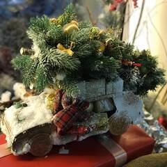 Новогодняя композиция с плюшевым оленем/ Rudolph