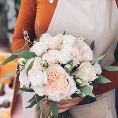 Классический букет невесты/ Cream