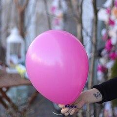 Шар гелиевый ярко-розовый