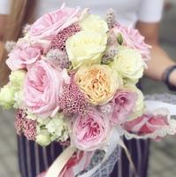 Букет невесты с розами Девида Остина