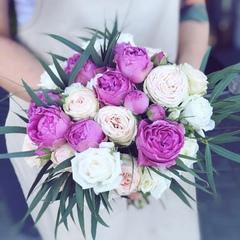 Букет невесты с тропическими нотками/Tropic vibes