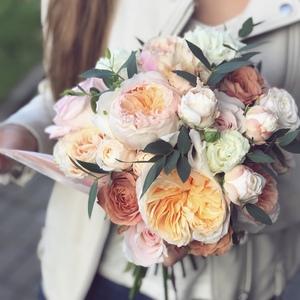 Букет невесты с садовой розой