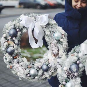 Белоснежный Рождественский венок