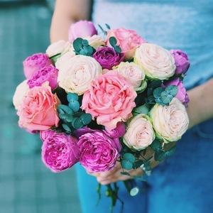 Букет невесты с розами-зефирками/ Marshmallows