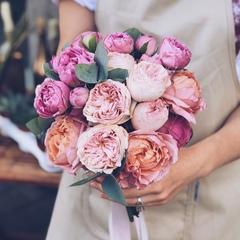 Букет невесты в нежно-розовой цветовой гамме
