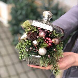 Новогодняя композиция - шкатулочка с сокровищами