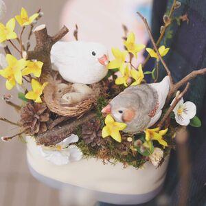 Пасхальная композиция с птичками/ Nest