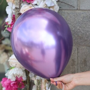 Шар фиолетовый металлик