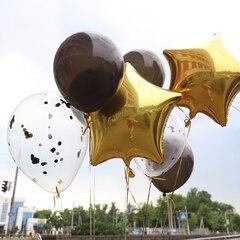 Сет шаров в черном и золотом цвете