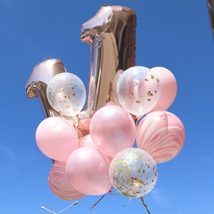 """Сет шаров """"День рождения в розовом золоте"""""""