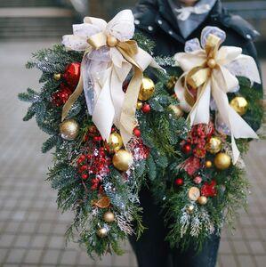 Новогодний подвес в форме капли