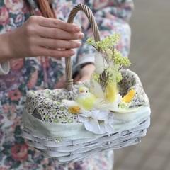 Пасхальная корзина/ yellow bird