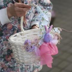 Пасхальная корзинка M/ purple bunny