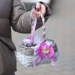 Пасхальная корзинка S/ purple