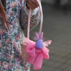 Пасхальная корзинка XS/ purple bunny