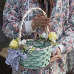 Пасхальная корзинка/ yellow tulips