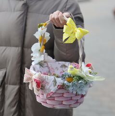 Пасхальная корзиночка М/ Yellow