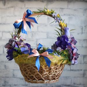 Сине-фиолетовая пасхальная корзинка