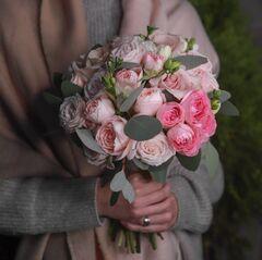 Букет невесты в розовых тонах