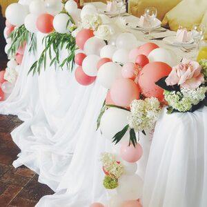 Оформление свадьбы шарами/Bubbles